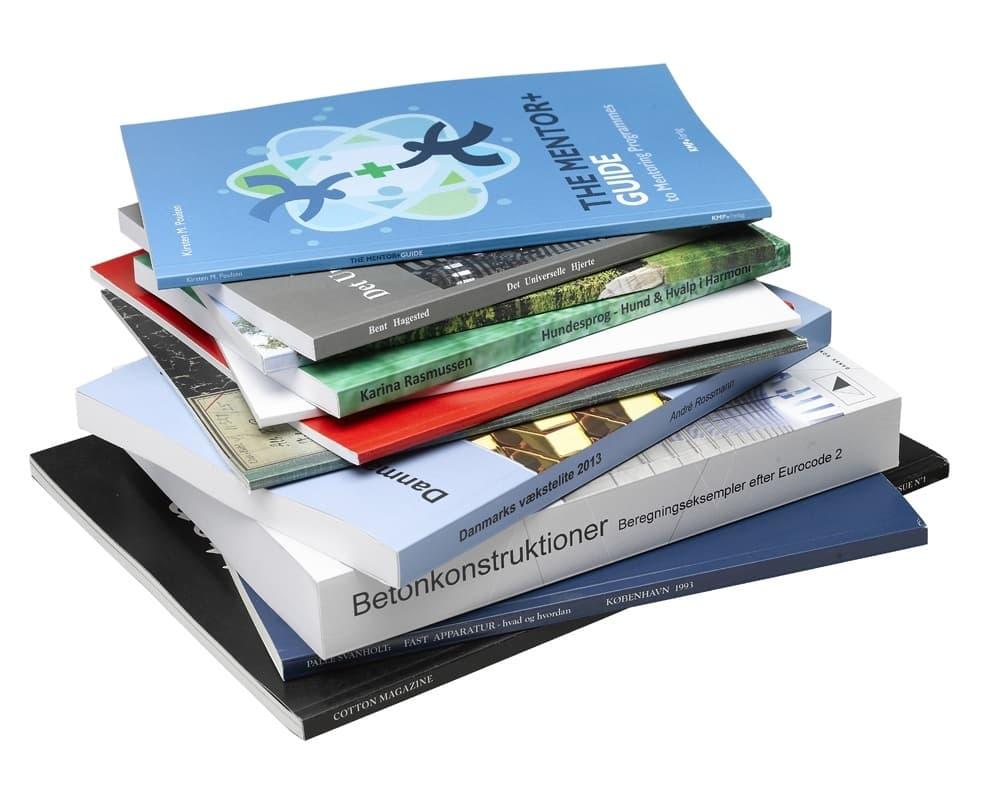 bøger med softcover printet i København hos Jensen Print