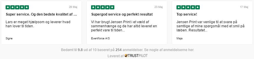 Trykkeri Jensen Print anmeldelser på Trustpilot